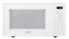 1.8 cu. ft. 1100W Sharp White Carousel Countertop Microwave Oven (R-559YW) Product Image