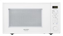 1.8 cu. ft. 1100W Sharp White Carousel Countertop Microwave Oven (R-559YW)