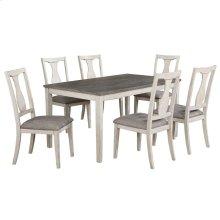 Karwell 7pc Dining Set in Antique White & Grey