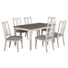 Karwell 7pc Dining Set in Antique White & Grey
