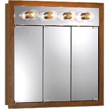 "30""W x 30""H - Honey Oak/Lighted Cabinet"