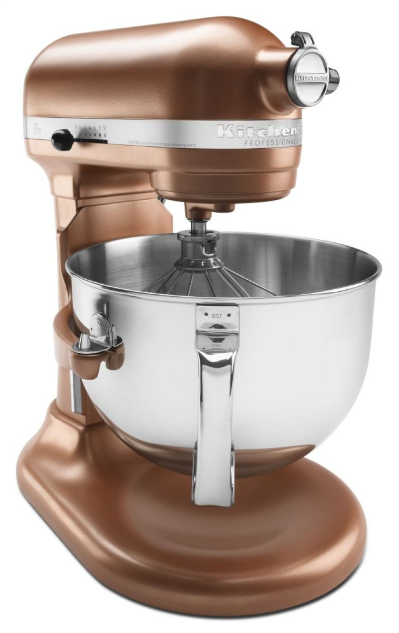 Pro 600 Series 6 Quart Bowl Lift Stand Mixer Copper Pearl