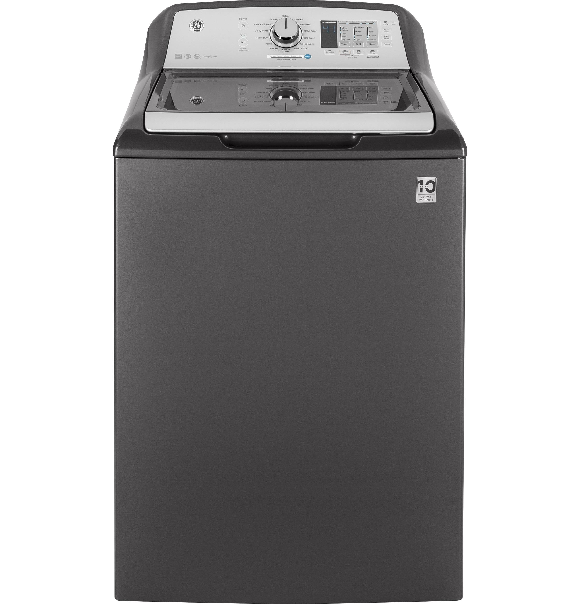 GE(R) 4.5 DOE cu. ft. Capacity Washer with Stainless Steel Basket  DIAMOND GRAY