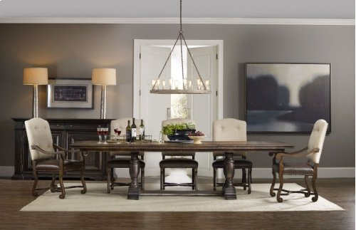 """Treviso Trestle Dining Table with Two 18"""" Leaves"""