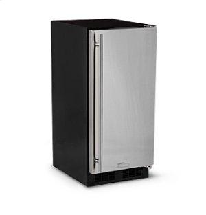 """15"""" All Refrigerator - Marvel Refrigeration - Black Door - Right Hinge"""