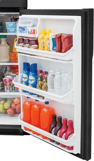 Crosley Top Mount Refrigerator - Black Stainless
