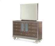 Amazing Gator Upholstered Dresser and Mirror
