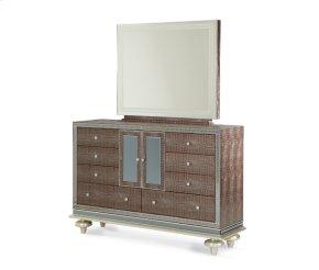 Amazing Gator Upholstered Dresser and Mirror