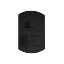 Pressure Balance Mixer with 2 Way Diverter SQU + SAFIRE - Black