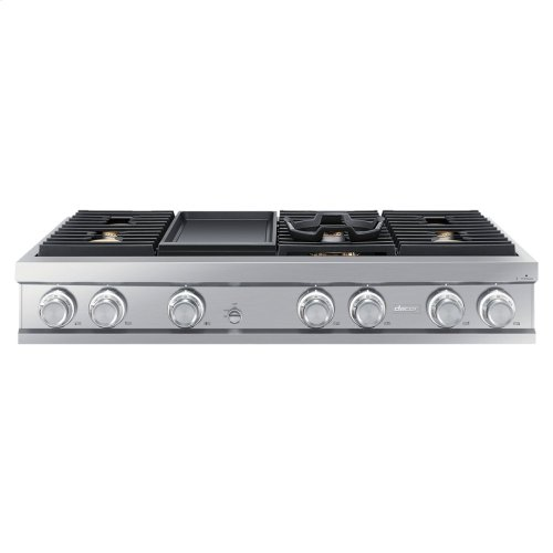 "48"" Gas Rangetop, Graphite Stainless Steel, Liquid Propane"