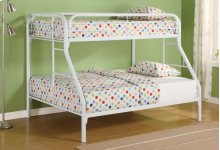 Twin / Full Metal Bunkbed White