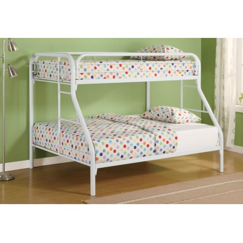Morgan Twin-over-full White Bunk Bed