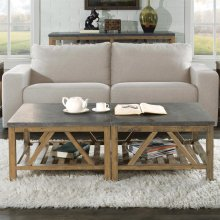 Weatherford - Bunching Coffee Table Base - Bluestone Finish