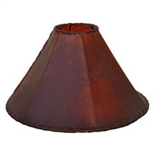 "20"" shade Russet Leather Lamp Shades 20"" and 24"""