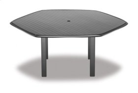 "63"" Hexagonal Table Top Only w/ hole"