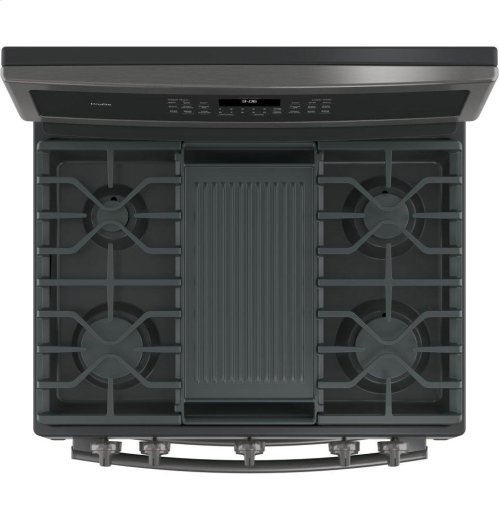 """GE Profile™ Series 30"""" Free-Standing Gas Double Oven Convection Range"""