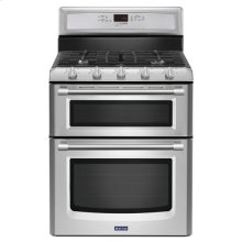 Maytag® 30-inch Wide Double Oven Gas Range with Power™ Burner - 6.0 cu. ft. - Stainless Steel