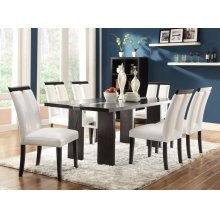 Kenneth Contemporary Black Five-piece Dining Set With LED Lighting