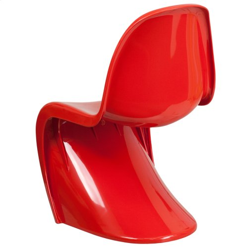 Mystique Series Red Plastic Stacking Side Chair