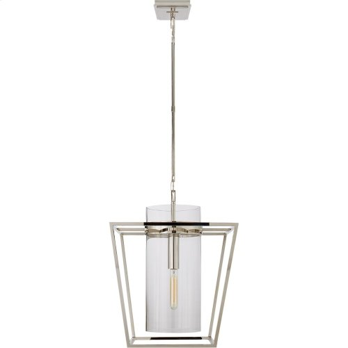 Visual Comfort S5167PN-CG Ian K. Fowler Presidio 1 Light 18 inch Polished Nickel Foyer Lantern Ceiling Light