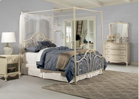 Dover Bed Set - Full - W/canopy & Legs - Cream Finish