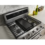 Kitchenaid 30-Inch 5 Burner Gas Double Oven Convection Range - Stainless Steel