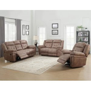 Steve Silver Co.Anastasia Cocoa 3 Piece Motion Set(Sofa, Loveseat & Chair)