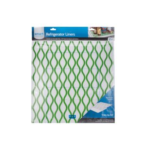 Trim-to-Fit Refrigerator Liner, Green Waves 2 Pack -