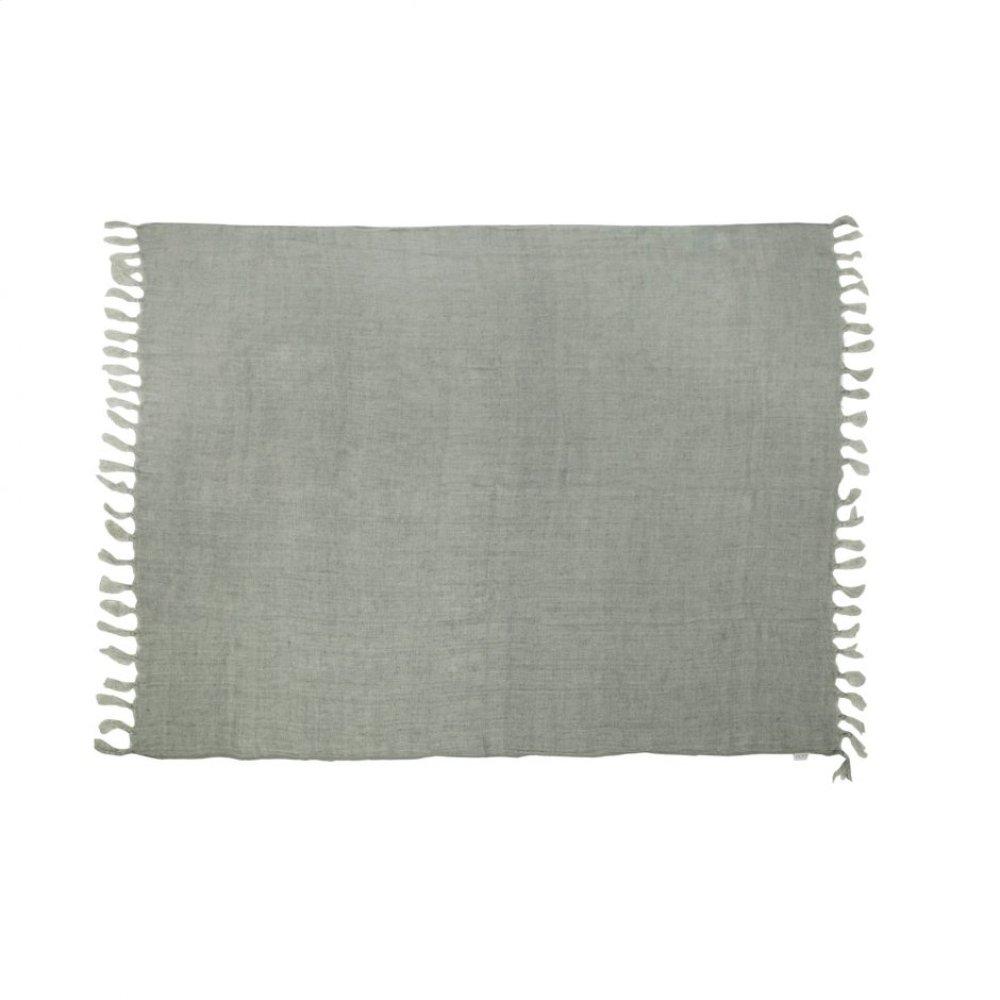 Lemmy Heavy Linen Throw Grey