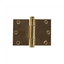 """Butt Hinge (Wide Throw) - 3.5"""" x 5"""" Silicon Bronze Brushed"""