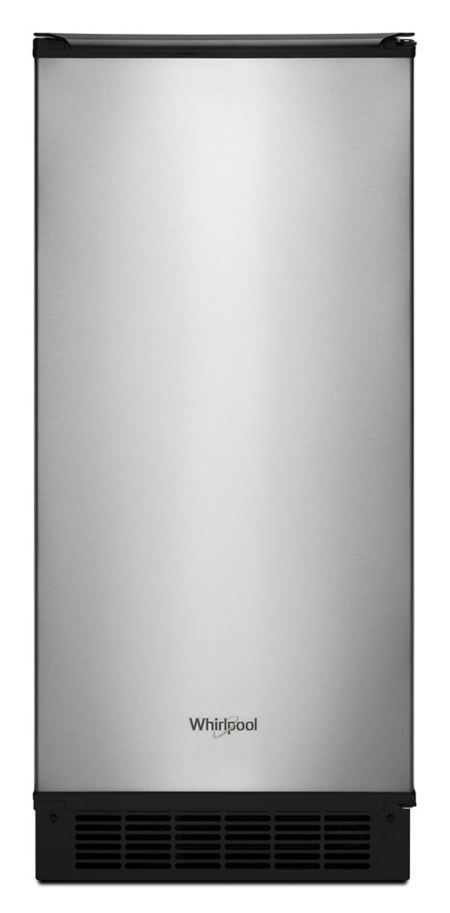 15-inch Icemaker with Clear Ice Technology  FINGERPRINT RESISTANT STAINLESS STEEL
