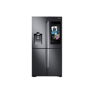 Samsung22 cu. ft. Family Hub Counter Depth 4-Door Flex Refrigerator in Black Stainless Steel