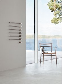 Build-in modular electric heated towel rail for individual design solutions - Grey