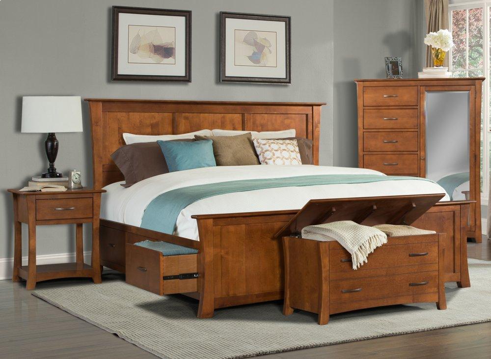 King platform storage bed Grey King Platform Storage Bed Harkness Furniture Gpkpe5132 In By America In Tacoma Wa King Platform Storage Bed