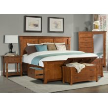 King Platform Storage Bed