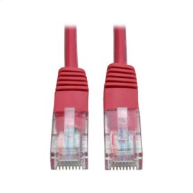 Cat5e 350MHz Molded Patch Cable (RJ45 M/M) - Red, 14-ft.