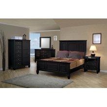 Sandy Beach Black King Five-piece Bedroom Set