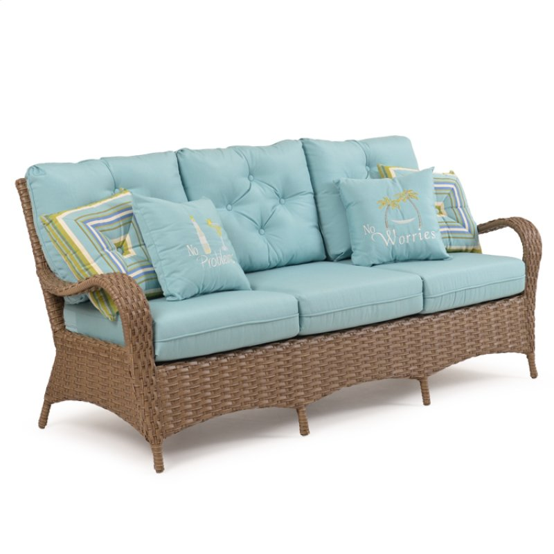 Outdoor Sofa Oyster Grey 6003 - GARD6003OG In By Palm Springs Rattan In Gainesville, FL - Outdoor
