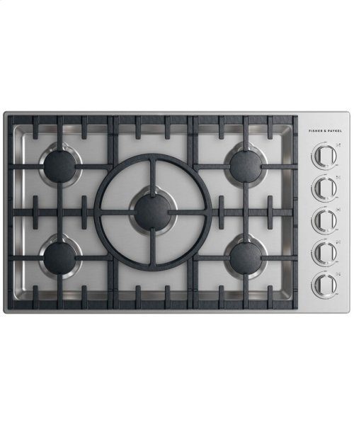 "Gas Cooktop, 36"", 5 burner"