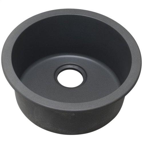 "Elkay Quartz Classic 18-1/8"" x 18-1/8"" x 7-1/2"", Single Bowl Dual Mount Bar Sink, Dusk Gray"