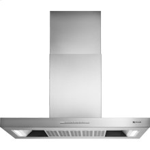 """Euro-Style Stainless 42"""" Low Profile Canopy Island Hood"""