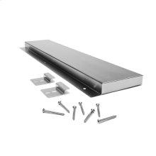 """6"""" Slide-in Range Backsplash, Stainless, Stainless Steel"""