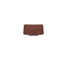 Scalloped Square Large Savile In Chestnut