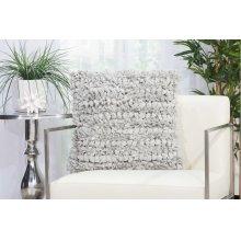 """Shag Dl058 Silver 20"""" X 20"""" Throw Pillows"""