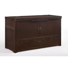 Murphy Cube Cabinet Bed in Dark Chocolate Finish
