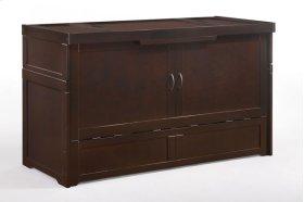 Murphy Cube Cabinet Bed in Dark Chocolate Finish