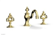 COURONNE Widespread Faucet Cross Handles 163-01 - Polished Brass