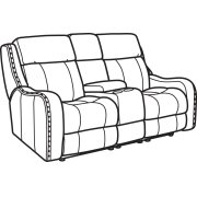 Springfield Fabric Power Reclining Loveseat with Console & Power Headrests Product Image