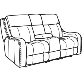 Springfield Fabric Power Reclining Loveseat with Console & Power Headrests