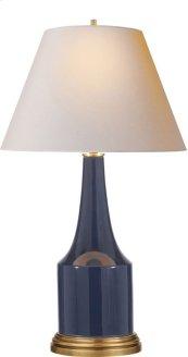 Visual Comfort AH3082MB-NP Alexa Hampton Sawyer 25 inch 100 watt Midnight Blue Porcelain Decorative Table Lamp Portable Light in Natural Paper